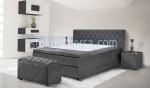 луксозно сиво легло Chesterfield