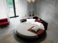 Тапицирани кръгли легла с дамаска София